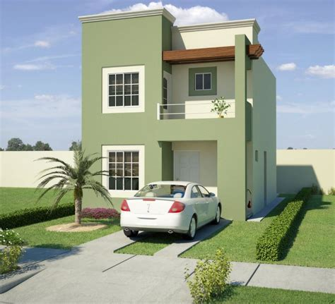 imagenes fachadas verdes fachada de casa en color verde cemento
