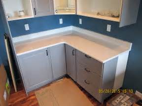 Kitchen Countertop Backsplash quartz white kitchen countertop with bevel edge and custom backsplash