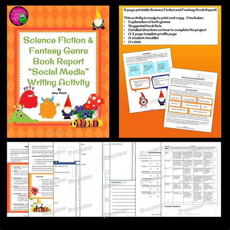 science book report science fiction genre book report profile page