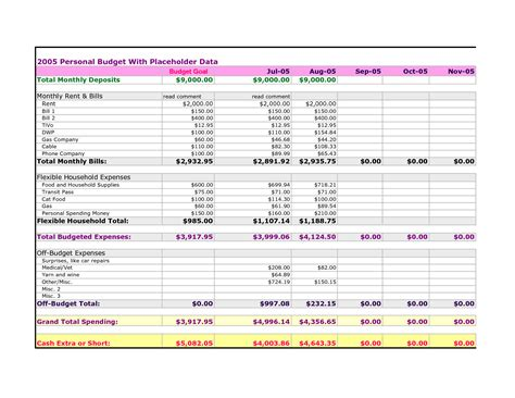 best photos of budget and bills spreadsheet easy monthly