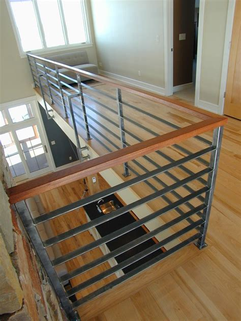 Modern Stair Banisters by Contempoary Stair Railing Modern Staircase Milwaukee