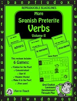 practising spanish grammar volume b00gn62l6g spanish preterite past tense verbs volume ii spanish games and lesson plans