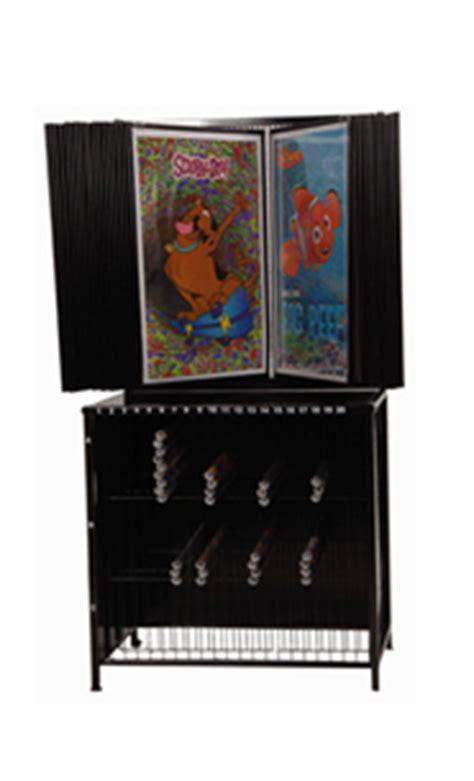 poster display rack with poster bin storage 30 panels