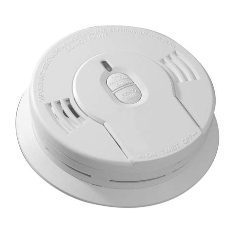 smoke detectors in bedrooms code kidde code one 10 year lithium battery operated ionization smoke alarm 21009992 the