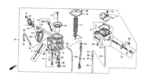 honda foreman carburetor diagram 2000 honda 400ex carburetor diagram honda auto parts