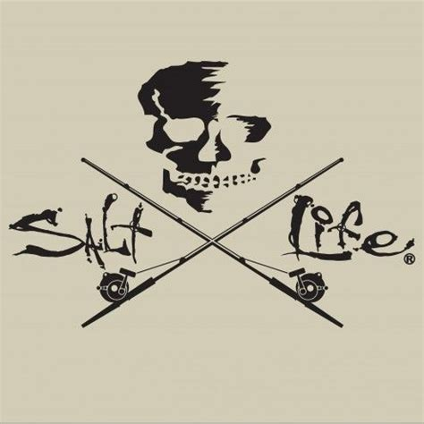 salt decal skull trolling salt decal fishing
