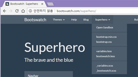 bootstrap themes superhero customizing asp net mvc bootstrap templates