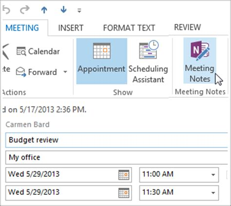 outlook meeting minutes template take notes in a meeting onenote