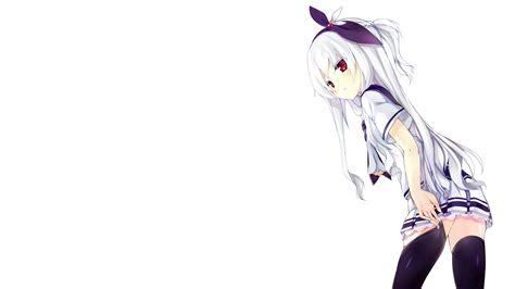 anime girl school uniform wallpaper download 3040x1710 anime girl school uniform white hair