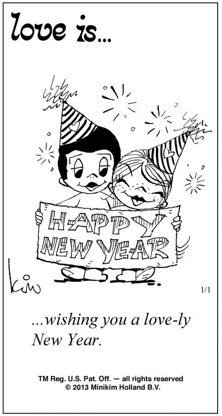Love is a happy new year! | L⃟O⃟V⃟E⃟ I⃟S⃟...... | Love is