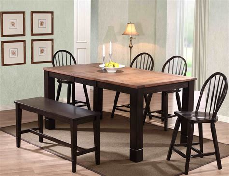 walnut dining room sets acacia distressed walnut dining room set 3073 00 t eci