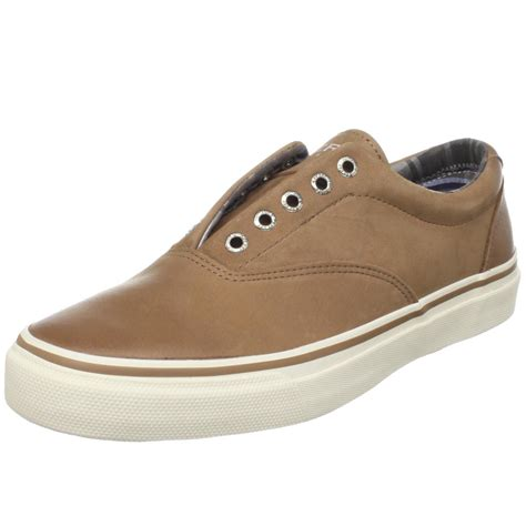 sperry sneakers mens sperry top sider mens striper laceless sneaker in brown