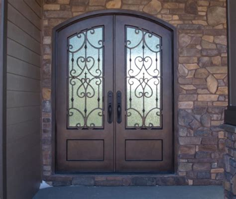 Wrought Iron Exterior Door Iron And Glass Entry Doors Exles Ideas Pictures Megarct Just Another Doors Design