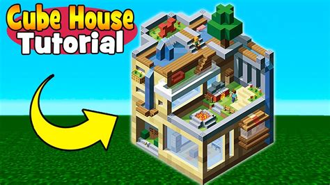 minecraft tutorial how to make a creative cube house