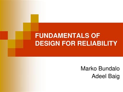 design criteria reliability ppt fundamentals of design for reliability powerpoint