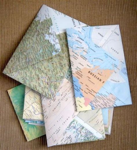 Map Craft Paper - 25 creative diy map projects hative