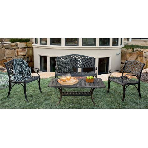 Patio Furniture Company by Walker Edison Furniture Company 4 Metal Patio