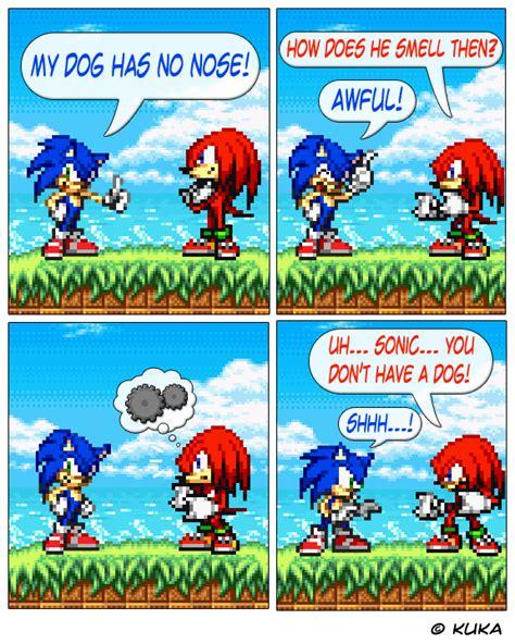 sonic  comics sonics pathetic joke