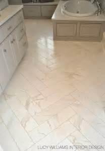 Porcelain Bathroom Floor Tiles Porcelain Floor Tile Looks Like Marble But Without The Maintenance Via Williams