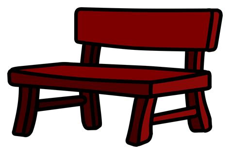 bench sign clipart bench coloured