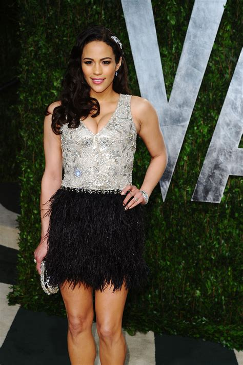 paula pattons feathered oscars party dress celebrity paula patton 2012 vanity fair oscar party hosted by