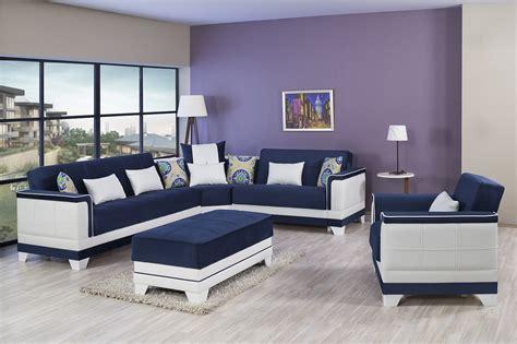 seasons riva dark blue sectional sofa  casamode
