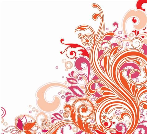 floral pattern vector illustrator swirl floral design vector art free vector graphics