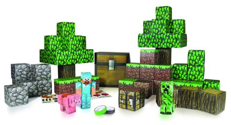 Minecraft Overworld Papercraft - previewsworld minecraft papercraft overworld set cs