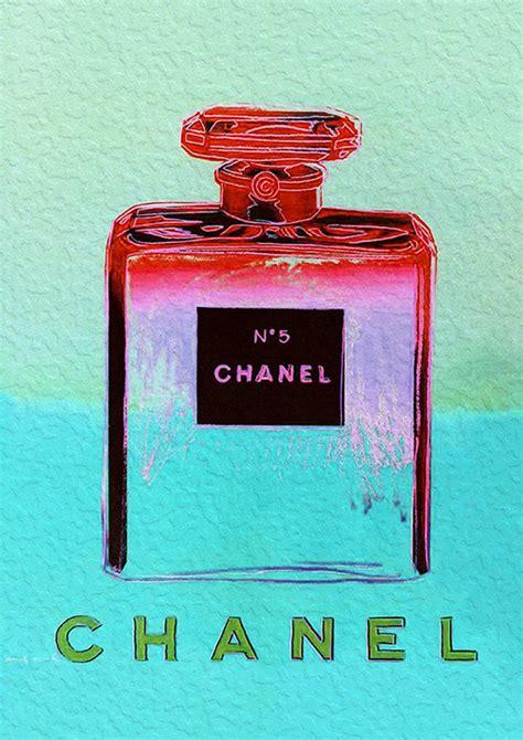 Chanel Canvas 1625 Semipremium chanel no 5 no5 no 5 andy warhol aqua print poster pop