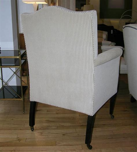 small scale armchairs pair of small scale armchairs with tapered legs at 1stdibs