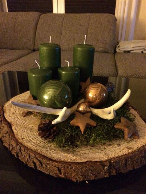 Adventskranz Auf Baumscheibe 25 einzigartige baumscheiben deko weihnachten ideen auf