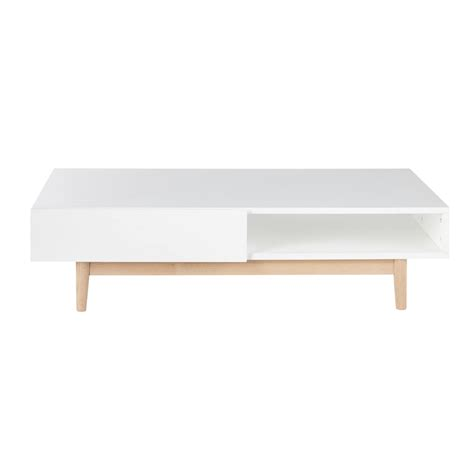 table basse vintage blanche table basse scandinave 2 tiroirs blanche artic maisons
