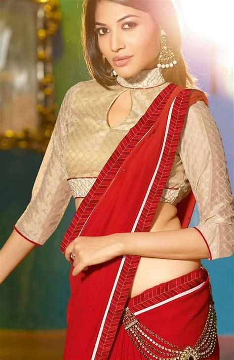 Sleeve High Neck Blouse by Blouse Designs Collection 2016 For Wedding Saree