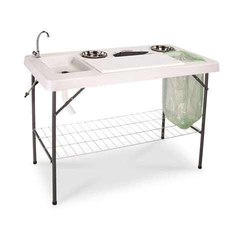 table accessories guide gear deluxe fish processing table with faucet