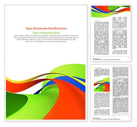 template word abstract shapes word template design id 0000000601