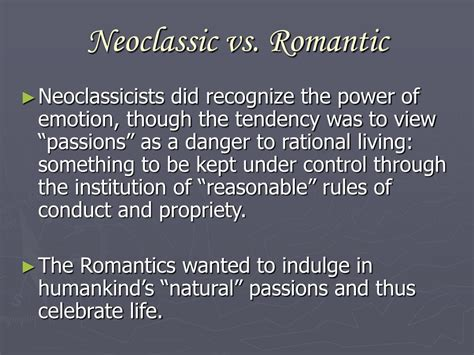 Neoclassicism Versus Romanticism Essays by Ppt Neoclassicism And Romanticism Powerpoint Presentation Id 593484