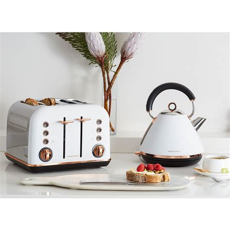 Toaster Small Morphy Richards White Accents Rose Gold Kettle Amp 4 Slice