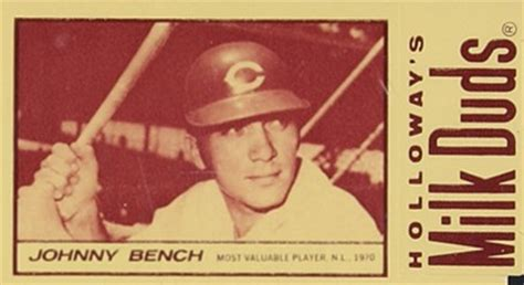 johnny bench card value 1971 milk duds johnny bench 6 baseball card value price guide