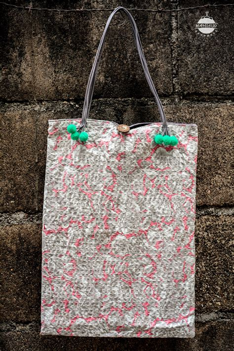 Cotton Bag Selempang Korea 1519 stitched floral tote bag japan korea thailand