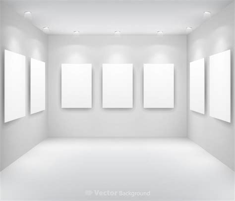 Gallery Display Background 13 Vector Free Vector 4vector Free Room Templates For Artists