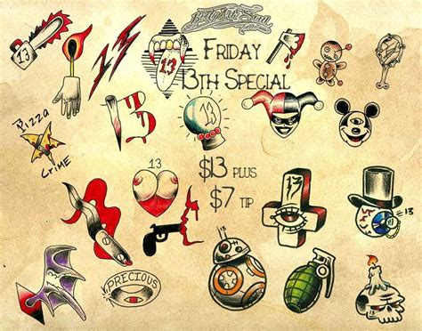 friday the 13th tattoo designs get inked on friday the 13th
