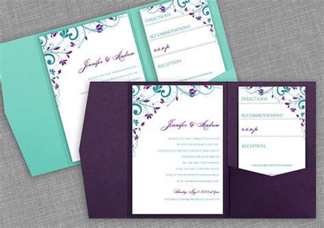 pocket wedding invitation template pocket wedding invitation template set instant by