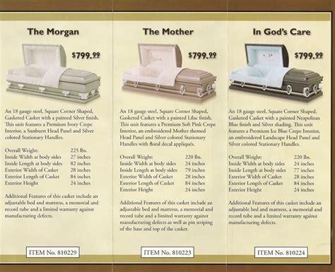 image gallery casket dimensions