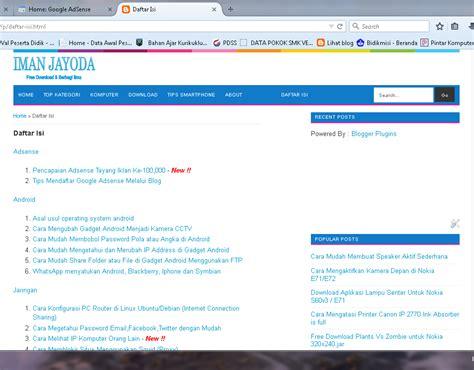membuat daftar isi agar lurus cara membuat daftar isi atau sitemap di blog iman jayoda