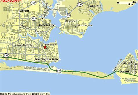 ft walton florida map fort walton map