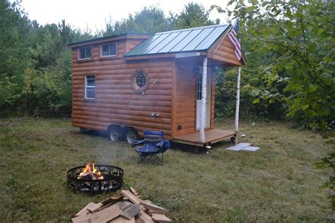 tiny cabin on wheels tiny log cabin on wheels by rolling cabins