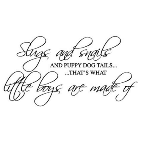 snails and puppy tails slugs and snails and puppy tails wall sticker wall quotes wall stickers