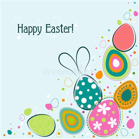 free easter card templates for photographers template easter greeting card vector royalty free stock