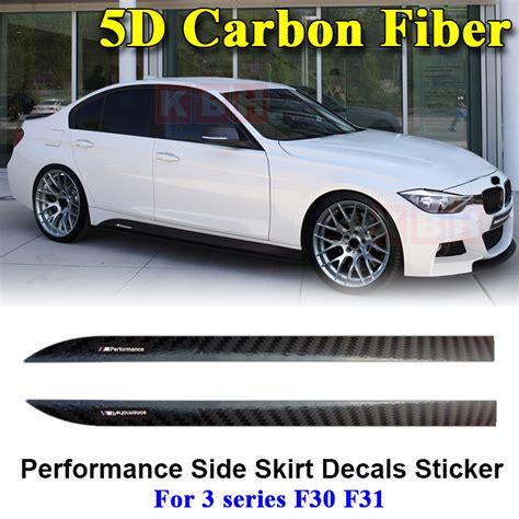 Bmw F31 M Performance Aufkleber by M Performance Side Skirt Stripe 5d Carbon Fiber Sticker