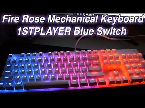 Keyboard Firerose 1stplayer firerose ergonomic waterproof chroma led illuminated mechanical gaming keyboard